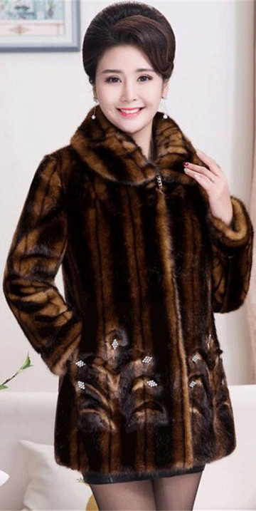 HTB1C7JgrRnTBKNjSZPfq6zf1XXa7 2020 Winter Women's Fur Coat Faux Mink Fur Jackets Plus size 5XL Middle aged Female Diamonds Thicken Noble Fur Coats OKXGNZ 2138