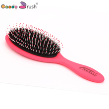 Natural Bristle Hairbrush with Nylon Wet Hair brush Women Hair Scalp Massage Comb Anti-static Brush