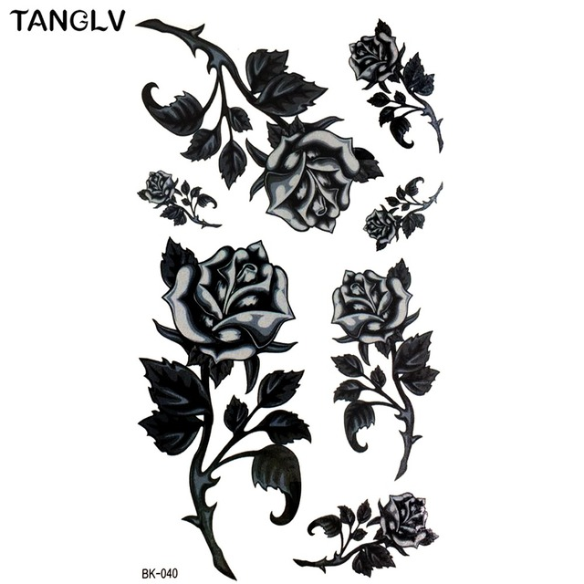 Hd Large Taty Hand Drawing Black White Rose Flowers Butterfly Water