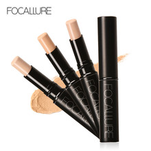 FOCALLURE Concealer 3 Kleuren Corrector Voor Het Gezicht Make-up Cosmetica Primer Stok Basis Fix Foundation Correctie Palet(China)