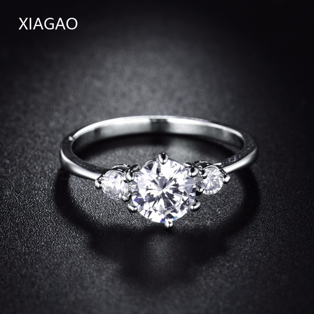XIAGAO Romantic Anel rings For Women CZ Rhinestones Vintage Wedding Engagement Ring Female Party Jewelry Accessories XGR053