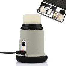 Купить с кэшбэком 2000mAh 1200RPM Lithium Battery Charging Electric Shoe Polishers Machine USB Connector Brush Leather Care