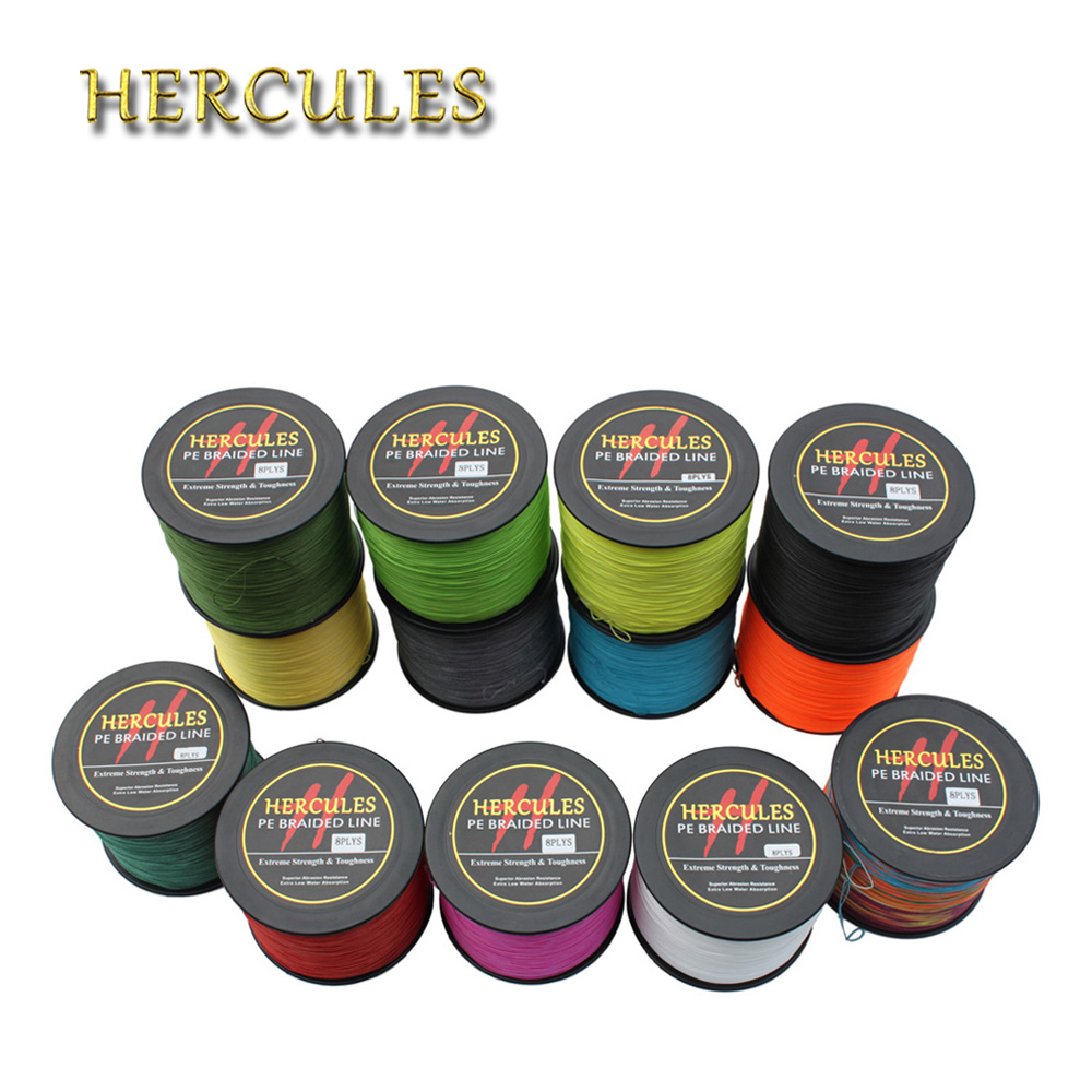 Hercules 8Strands Fishing 90LB 1000M PE Braided Fishing Line Peche Saltwater Carp Fishing Weave Pesca Superior Extreme Line Cord