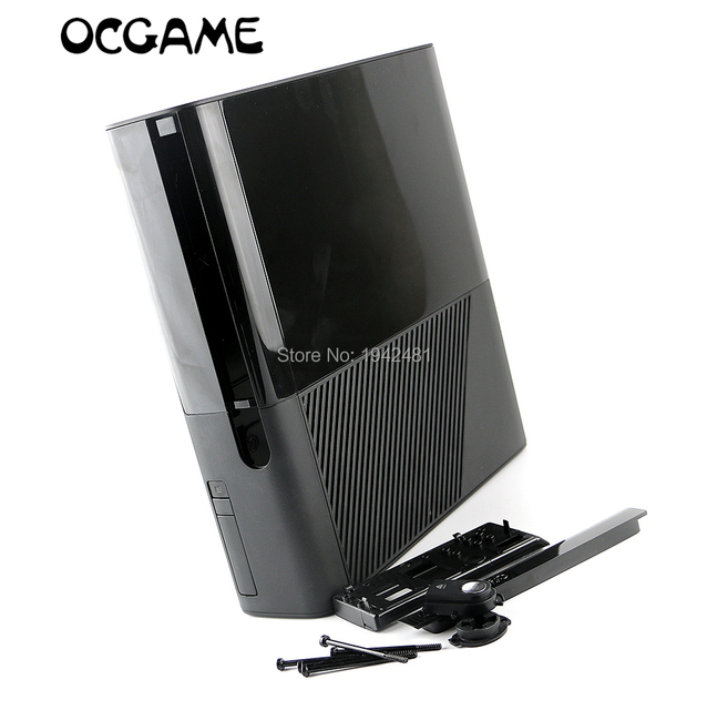US $35 7 8% OFF|Aliexpress com : Buy ChengChengDianWan Free shipping black  full set Housing Shell Case for XBOX360 E Slim console replacement from
