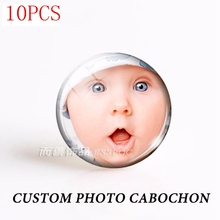 Glass-Cabochon Keychain Photo-Making Custom Personalized Gift Round Support-2-Picture