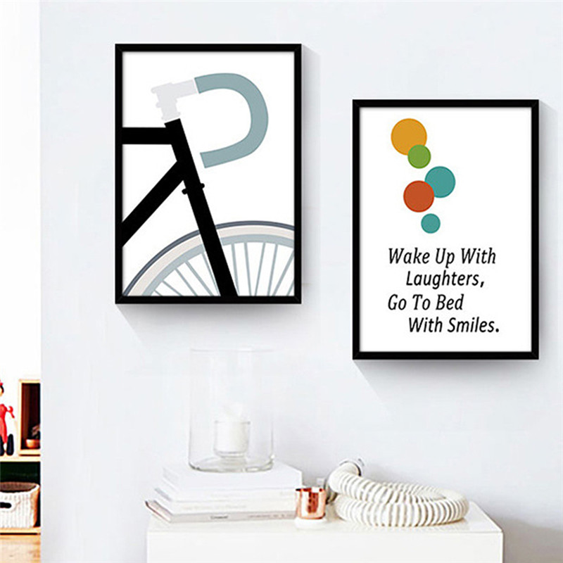 Go to Bed with Smile Paintings Wall Art Canvas PosterS Painting Nursery Pictures Print Home Children Room Decor No Poster Frame