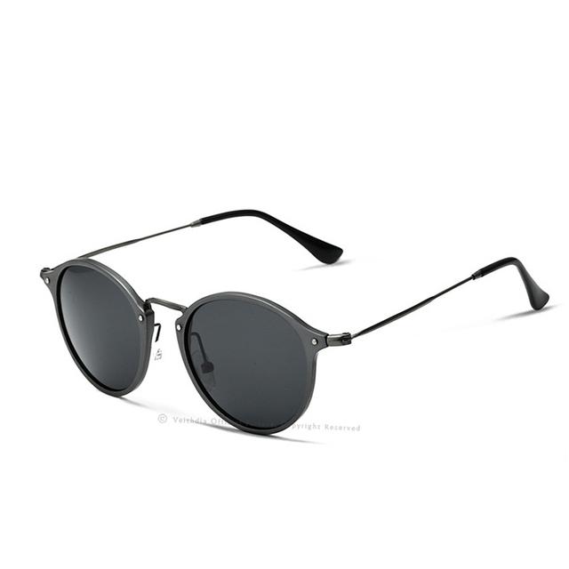 VEITHDIA Men's Polarized Round Sunglasses, Copper Frame, Unisex