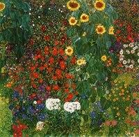 Handmade oil painting reproduction Farm Garden with Sunflowers by Gustav Klimt