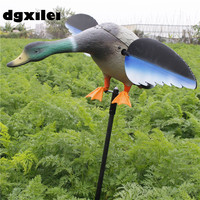 2017 Xilei Free Shipping Dc 6V High Quality Hunting Bait Flocking Hunting Duck Decoys With Spinning Wings