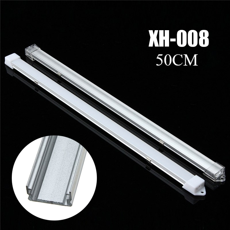 30cm/50cm Milky/Transparent Cover Aluminum LED Bar Light Channel Holder Cover for LED Strip 30cm 50cm milky transparent cover aluminum led bar light channel holder cover for led strip light