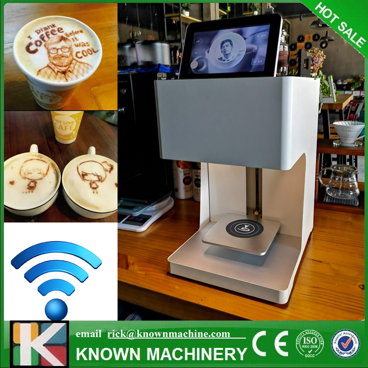 Edible ink beverage biscuit coffee printer selfie coffee printer coffee color latte art printing machine with tablet coffee printer food printer inkjet printer selfie coffee printer full automatic latte coffee printe wifi function