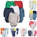 Bebê conjunto Bodysuit 4pcs-Pack Manga Comprida Bodysuit de carter Algodão Infantil Menino e Menina 4 pcs 6pcs-Pack Jumpsit conjunto
