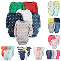 T Shirt set 4pcs-Pack Body de Manga Larga de Bebé Niño y Niña 4 unids 6pcs-Pack carter Algodón Jumpsit conjunto