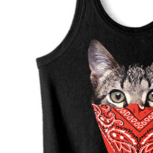 Mask Cat Printed Men Vest Funny Animal Black Tank Top Fitness Hip Hop Streetwear Plus Size Beachwear Mens Fashion Vests Tops