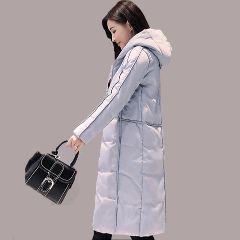 Women's Winter Jacket Long Parka Coat Fashion Warm Outwear Hooded Thicker Padded Coats Black Women Jackets Female cloting QH0334 2017 winter women coats female long hooded parka jacket thick cotton padded outwear fashion black red army green coats