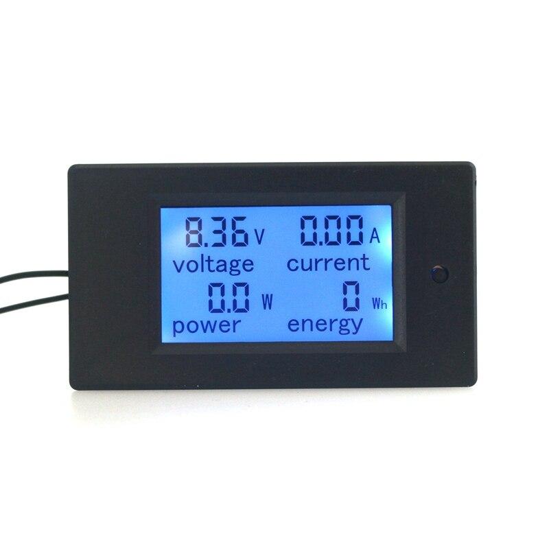 Multimeter Digital Voltmeter Amperemeter Strom Energie Watt Volt Ampere Meter Blaue Lcd-hintergrundbeleuchtung DC 100 V 20A Aktuelle Shunt