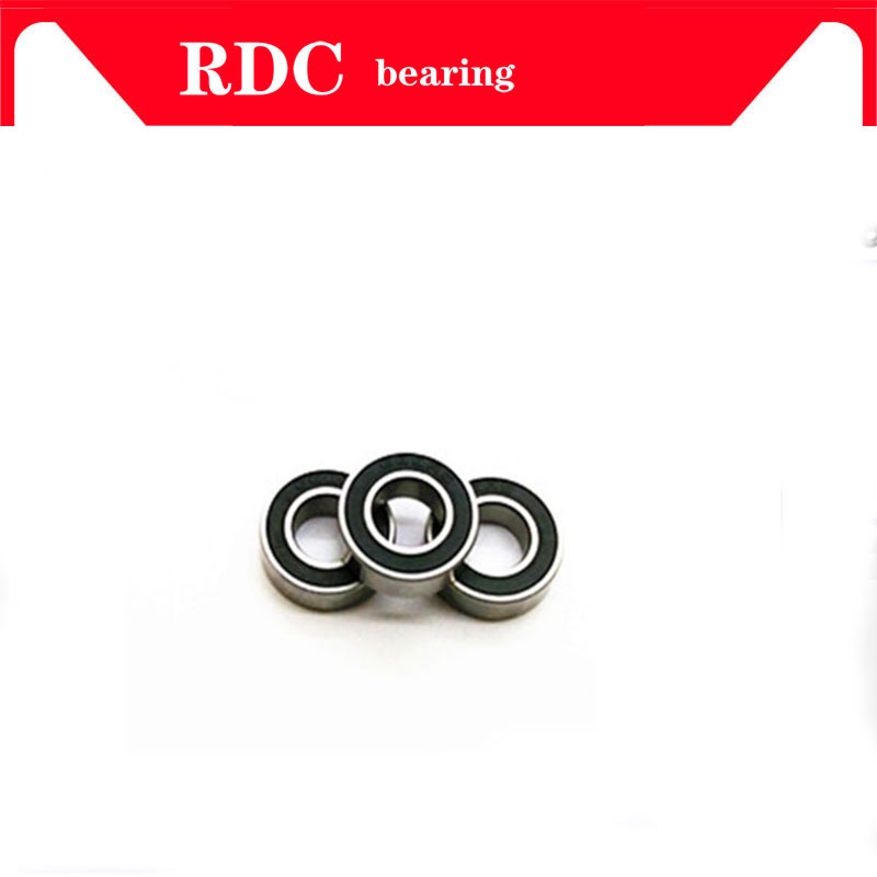 6PCS ABEC-5 6802-2RS High quality <font><b>6802RS</b></font> 6802 2RS RS 15x24x5 mm Thin Wall Rubber seal Deep Groove Ball <font><b>Bearing</b></font> image