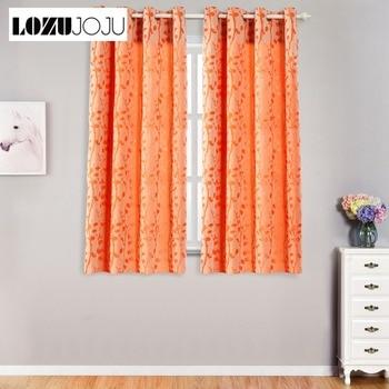 lozujoju korte draad druppels bladeren patroon gordijn voor woonkamer slaapkamer ramen voor keuken deur dikke gordijnen