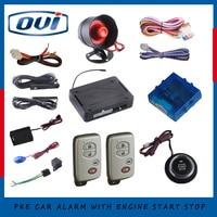 Car Alarm Kit Passive Entry System Start Stop Push Button Remote Lock Unlock Car 433 92MHZ