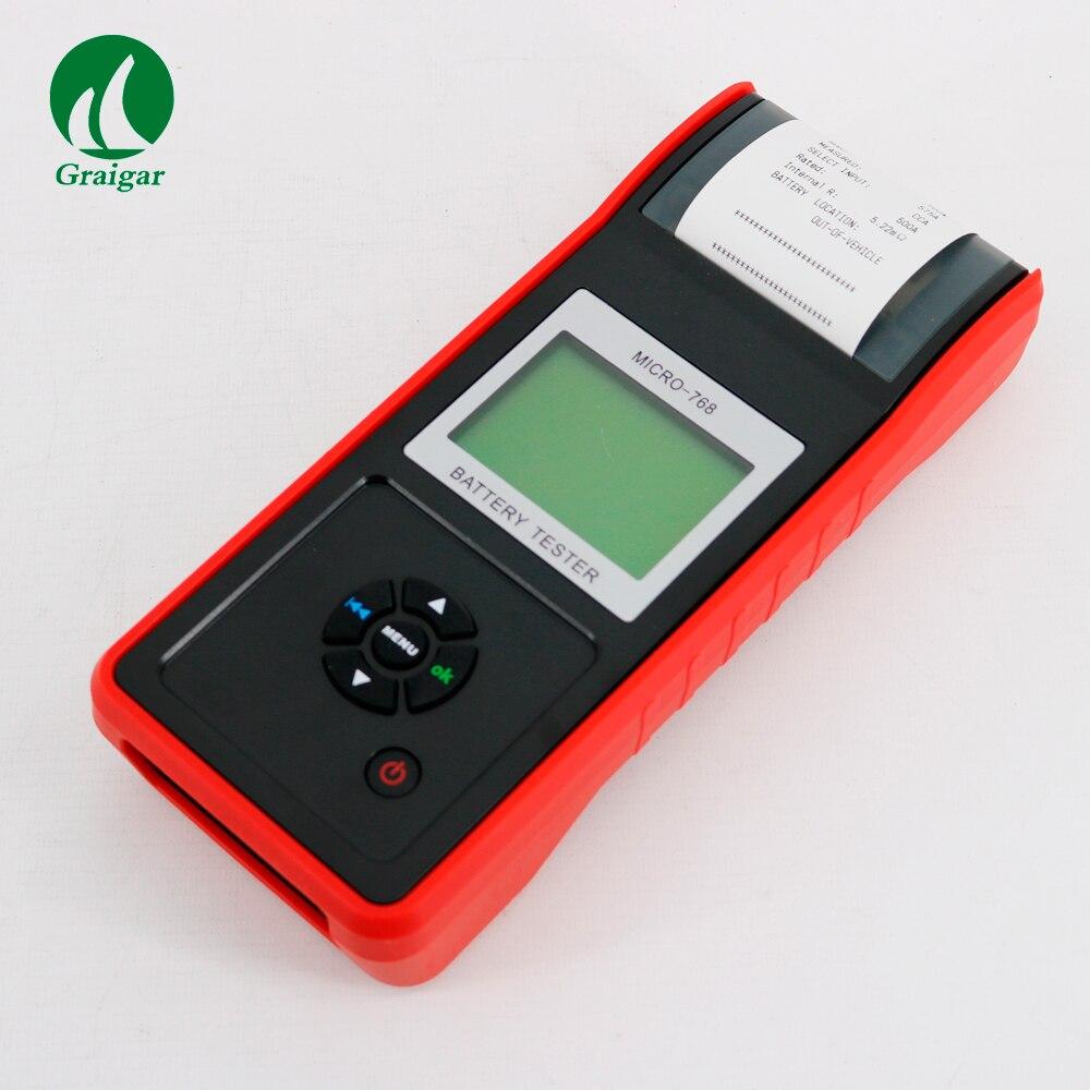 Testeur de Batterie avec Imprimante MICRO-768A Auto Batterie de voiture Testeur Véhicule Test Du Système De Charge