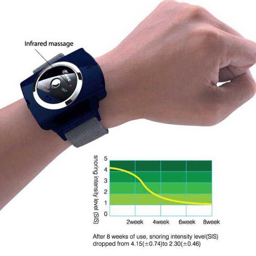 Anti ronquido tapón pulsera dispositivo infrarroja inteligente dejar de roncar de atención de la salud