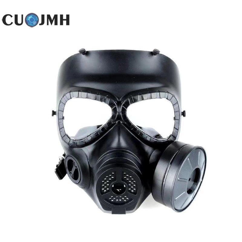 1 Pcs Gas Mask Tactical Head Masks Resin Full Face Fog Fan Wargame Airsoft Paintball Dummy Gas Mask With Fan Cosplay Protection цены онлайн