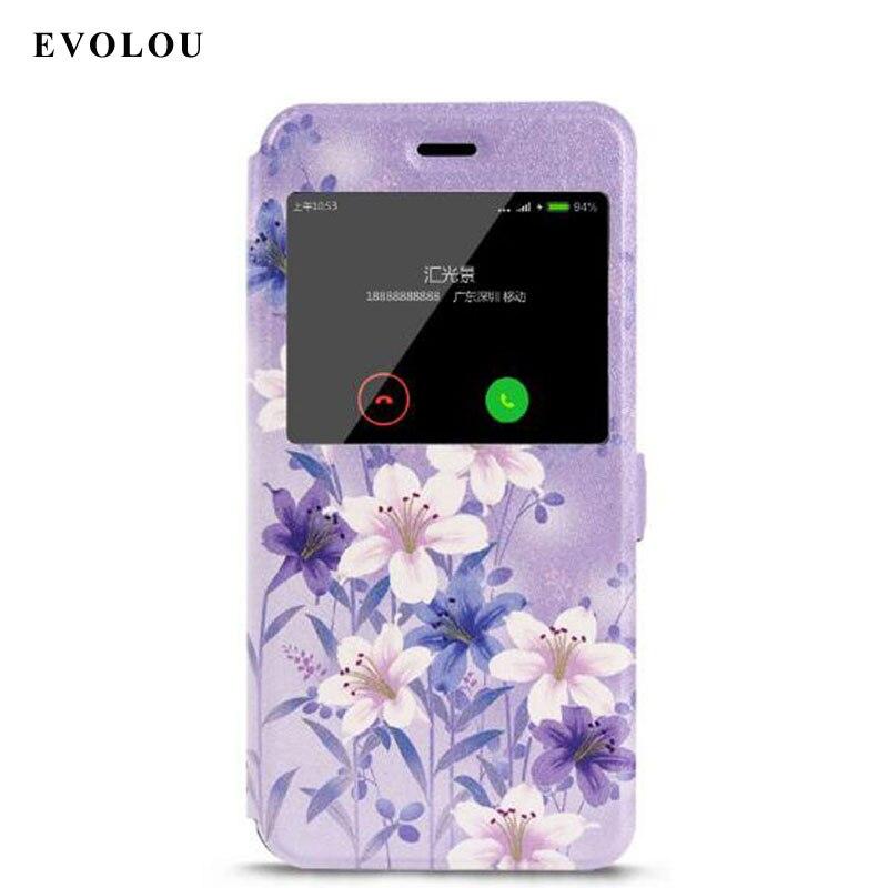 EVOLOU Xiaomi Mi A1 Case MiA1 Flip Window Leather Case For XiaoMi Mi5x Mi 5x Cover Mi A1 / 5X Phone Bags & Cases Coque