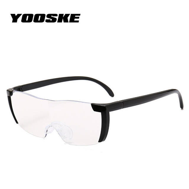 bb68d44304a YOOSKE 1.6 times Magnifying Glass Reading Glasses Big Vision 250%  Magnification Presbyopic Glasses Magnifier Eyewear