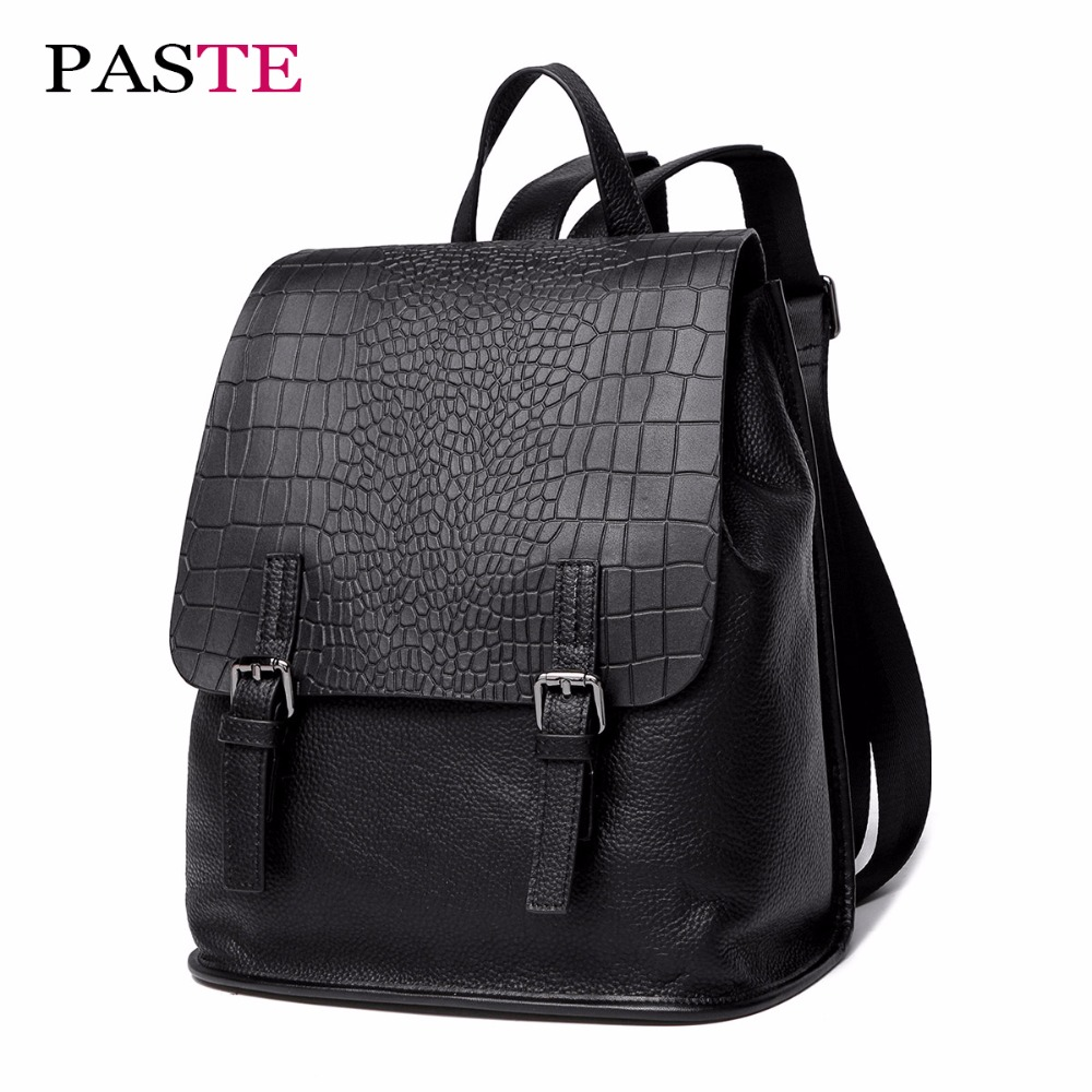 New drawstring luxury italian designer backpack women bag genuine leather laptop animal alligator fashion soft back packs black women backpack fashion pvc faux leather turtle backpack leather bag women traveling antitheft backpack black white free shipping
