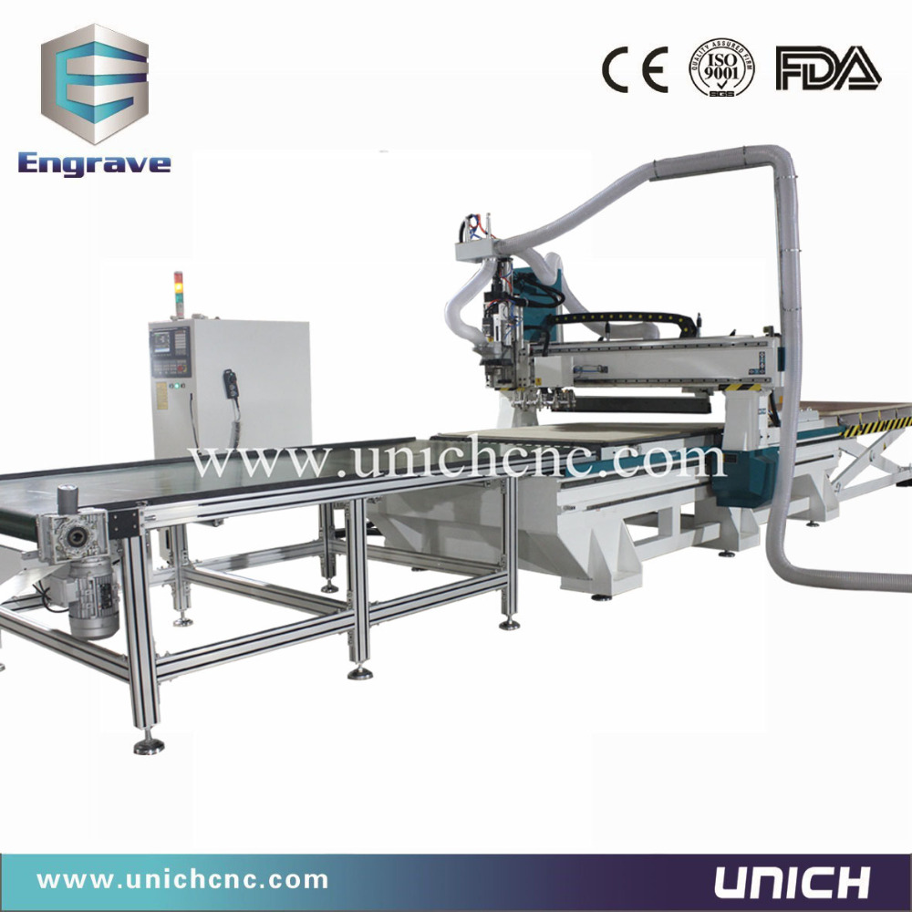 Heavy duty china cnc router / wood cnc machine for Panel furniture cabinet