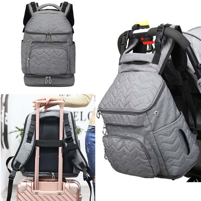 Stroller Diaper Backpack For Mom  Maternity Nappy Women Travel Bag Large Capacity Mummy Baby Bag Insulation  Nursing To Outdoor