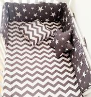 (1pcs bumper only) hot Style Cotton cloud Tree star crown Bed Bumper Comfortable Surrounded Half baby crib protection