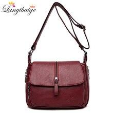 Women shoulder messenger bag sheepskin high quality casual shoulder bags solid zipper colors fashion handbag bag Bolsa Feminina
