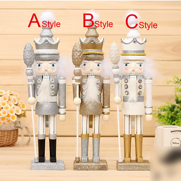 HT073 toy 42cm Gold Silver shiny unique super cute puppet Nutcracker Candy Man birthday Christmas gift christmas snowman toy kids gift star shape candy jar