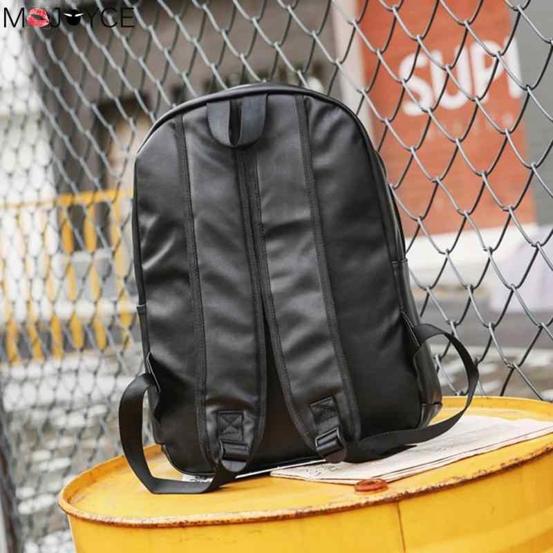 Preppy estilo mochila masculino adolescente casual daypack escola mochila couro do plutônio sacos de ombro grande capacidade sacos viagem útil