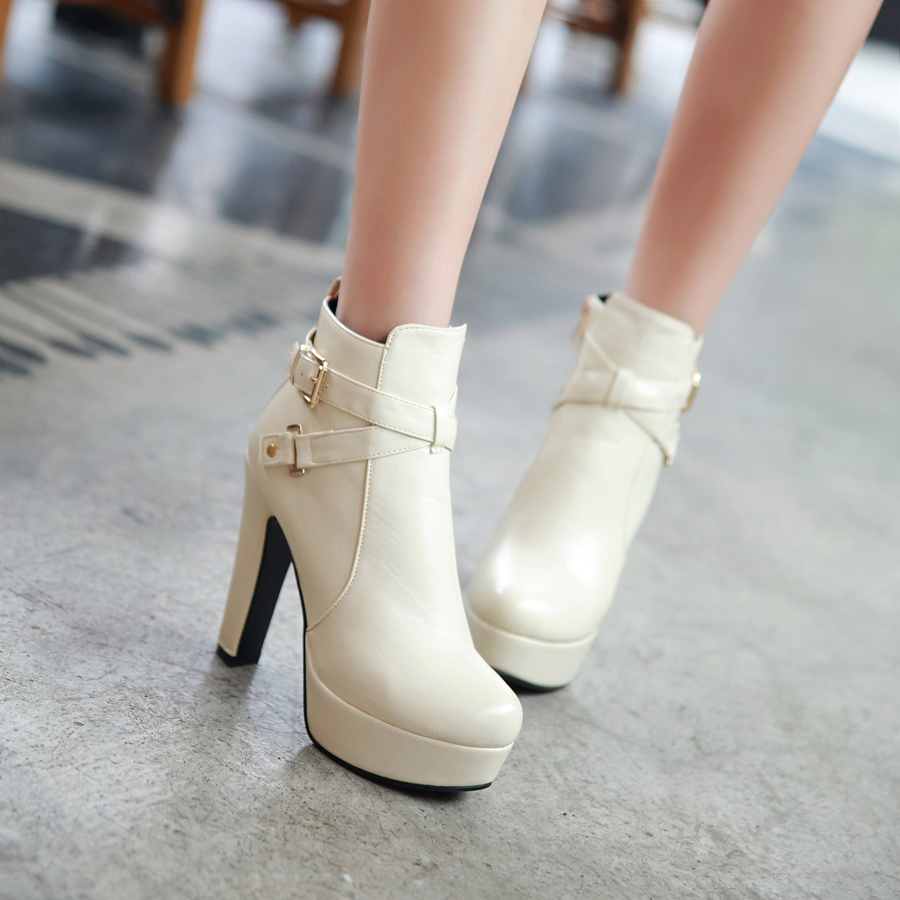 Wide High Heel Boots Promotion-Shop for Promotional Wide High Heel ...