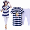 Pijama maternity pajamas pregnancy robe top nursing nightwear nightdress tees breastfeeding pajamas pregnant sleepwear mouse