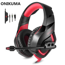 ONIKUMA K1 Wired Gaming Headphones with Microphone Mic for Computer Best PC Gamer Headset Game Casque Heavy Bass Stereo Earphone