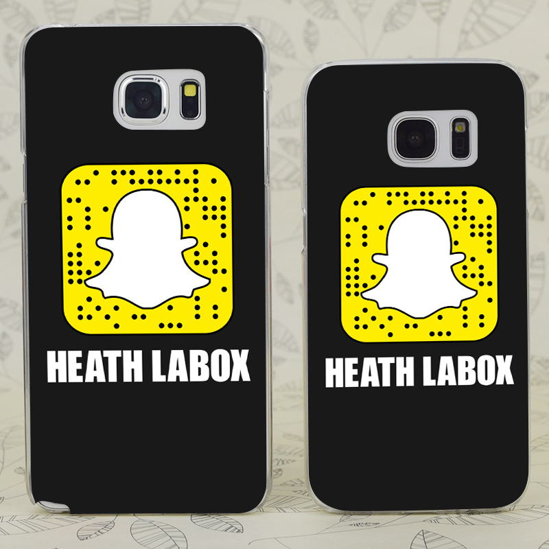 US $2 42 16% OFF|C4188 Heath Labox Snapchat Transparent Hard PC Case Cover  For Samsung Galaxy S 3 4 5 6 7 Mini Edge Plus Note 3 4 5 9-in Fitted Cases