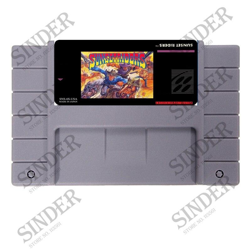 Sunset Riders USA Version 16 bit Super Card Game Per USA NTSC Giocatore del Gioco
