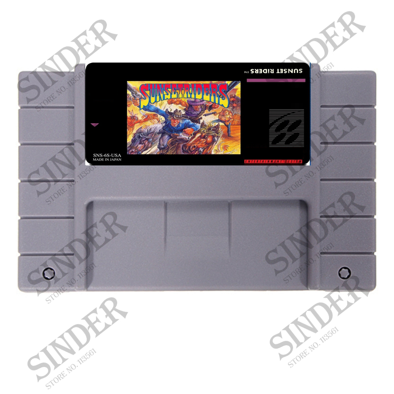 Sunset Riders USA Version 16 bit Super Game Card For USA NTSC Game Player