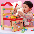 Wood Chair Buidling Blocks Toys Multifunction Nut Assembly Disassembly Tool Combination Engineering Wooden Toy