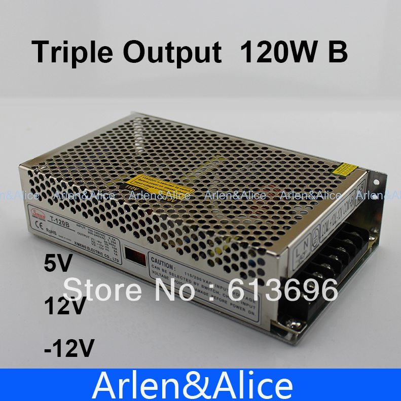 120W B Triple output 5V 12V -12V Switching power supply smps AC to DC meanwell 12v 350w ul certificated nes series switching power supply 85 264v ac to 12v dc