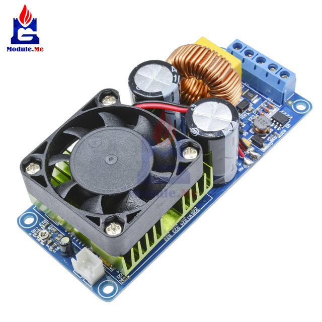 IRS2092S הכפול DC אספקת חשמל 500W מונו ערוץ דיגיטלי מגבר כיתת HIFI Power Amp לוח מודול הגנה קצרה