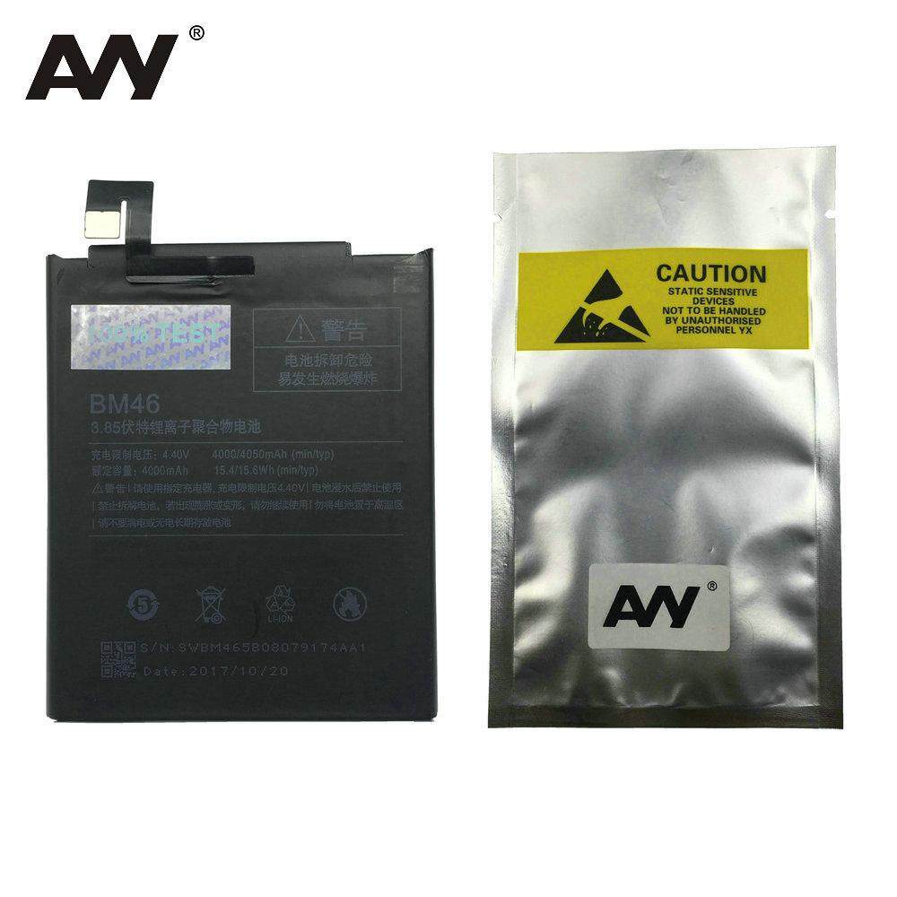 AVY Battery BM46 For Xiaomi Redmi Note 3 Redrice Mi Note3 Pro Mobile Phone Rechargeable Li-ion Batteries Bateria 4000mAh 4050mAh