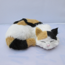 Simulation cat polyethylene&furs cat model funny gift about 23cmx18cmx8cm