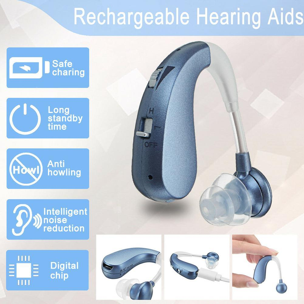 Aides auditives sans fil rechargeables de réduction de bruit d'amplificateurs sonores intelligents d'aide auditive de digital pour la perte modérée à grave de personnes âgées