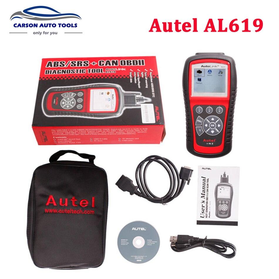 Original Autel Autolink Al619 Abs Srs Can Obdii