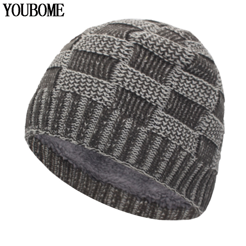 Fashion Skullies Beanies Men Winter Hat Knitted Hats For Men Gorros Bonnet Mask Warm Male Winter Beanie Hat Cap Women Winter Cap