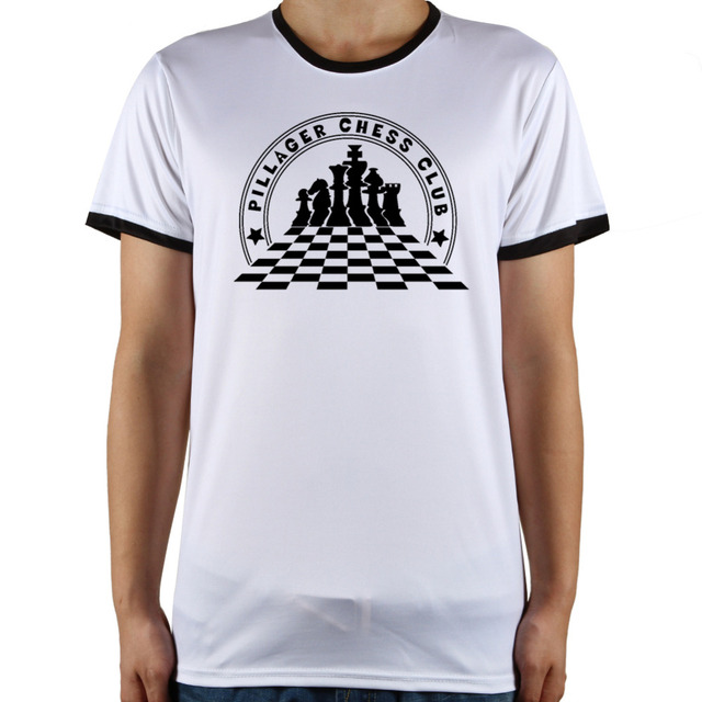 a8ff0a125d Hot Sale Men Classic Designer White Top Tees Chess Club Funny T Shirts Man  Summer Fitness